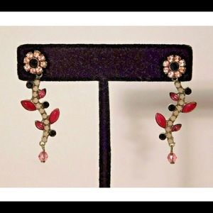 Sorrelli Pink Floral Dangle Earrings